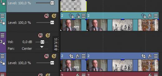 Логика работы в видеоредакторе VEGAS